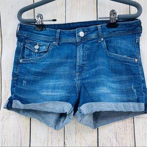 Denim shorts regular waist